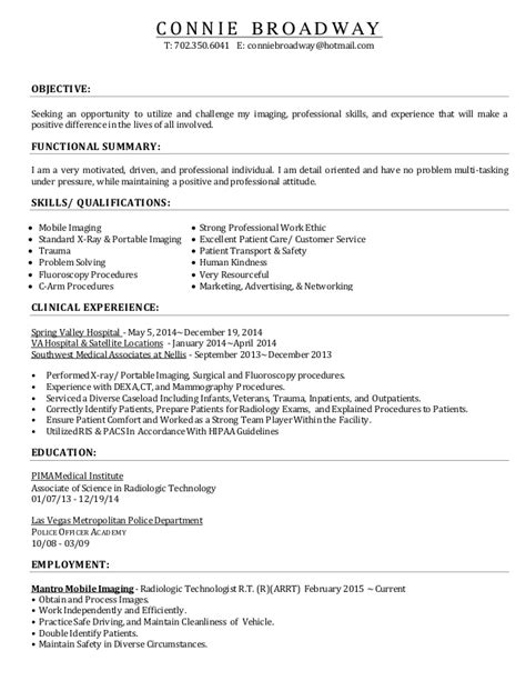 Resume X Tech by 2015 Resume Radtech