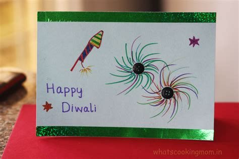 Handmade Diwali Cards - handmade cards for diwali whats cooking