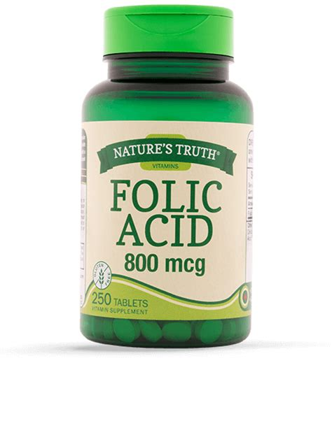 Mcg For Methhet Detox Of Folate Supplements by Folic Acid 800 Mcg Vitamins Supplements By Nature S
