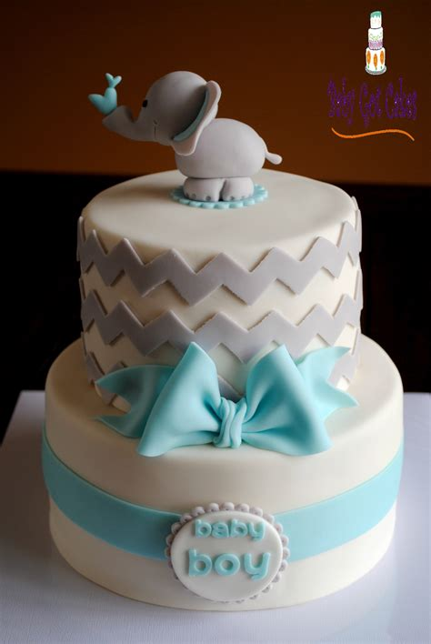 tiered baby shower cakes elephant baby boy shower two tier cakecentral