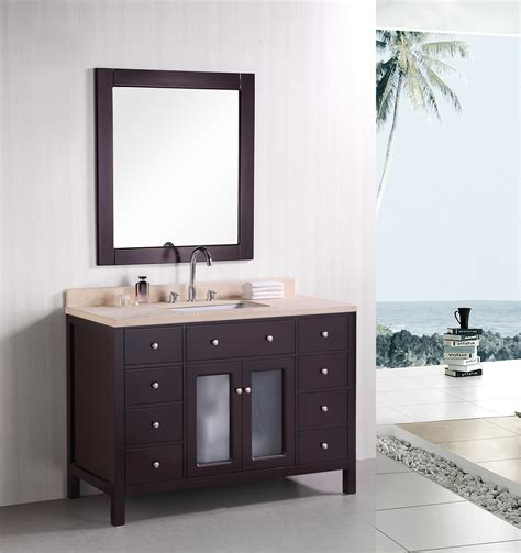 single basin bathroom vanity adorna 48 inch contemporary single sink bathroom vanity