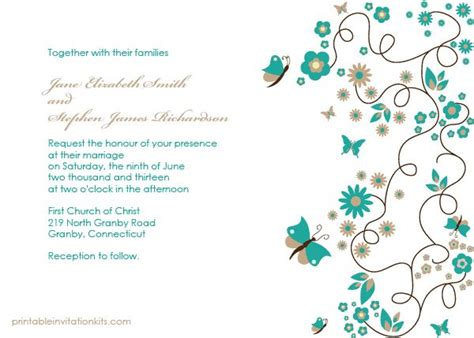 Free Pdf Template Butterfly Garden Wedding Invitation Template Is Very Easy To Edit And Print Garden Wedding Invitations Templates