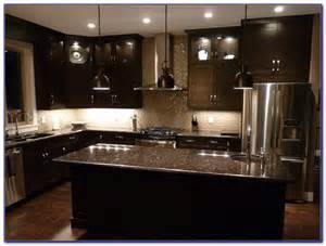 Kitchen Backsplash Ideas For Dark Cabinets by Kitchen Backsplash Glass Tile Dark Cabinets Tiles Home