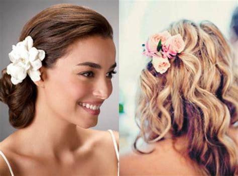 Hochzeitsfrisur Wenig Haare by Brautfrisuren Mit Blumen 22 Ideen F 252 R Ein Perfektes