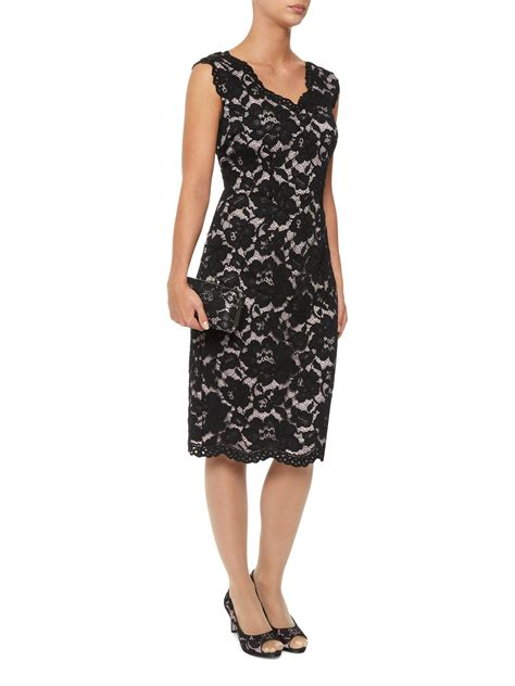 Opulent Dresses jacques vert opulent dress in black multi coloured lyst
