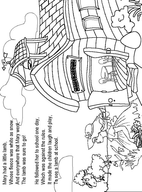 Mary Had A Little Lamb Dltk Dltk Nursery Rhyme Coloring Pages