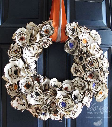 How To Make A Wreath Out Of Paper - 20 diy wreath ideas