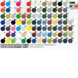 tamiya color chart tamiya xf series acrylic paint xf49 to xf69 10ml tub