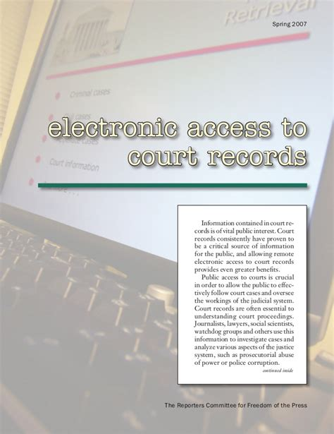 Acces To Court Records Electronic Access To Court Records In The 50 States