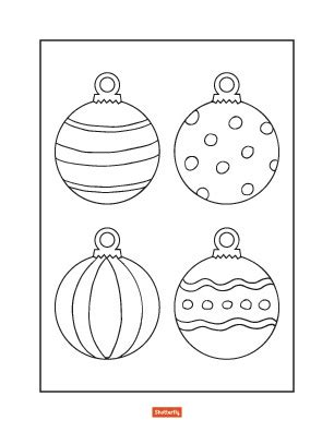 color christmas ball ornament template 35 coloring pages for shutterfly