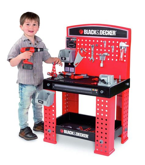 workman tool bench kids black decker little workman smoby workbench