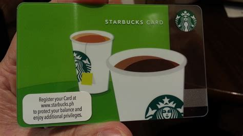 starbucks card the philippine beat get your starbucks card a stored
