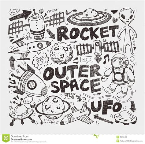 doodle element doodle space element royalty free stock photos image