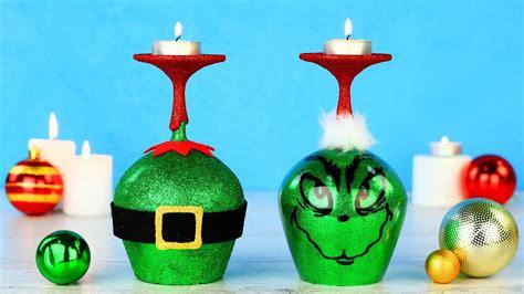diy grinch christmas decorations youtube