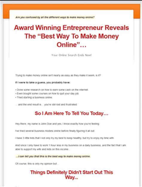 Make Money Online Best Way - best way to make money online plr videos