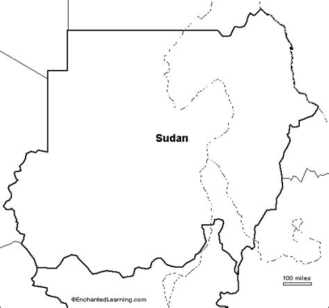 South Sudan Map Outline by Outline Map Sudan Enchantedlearning