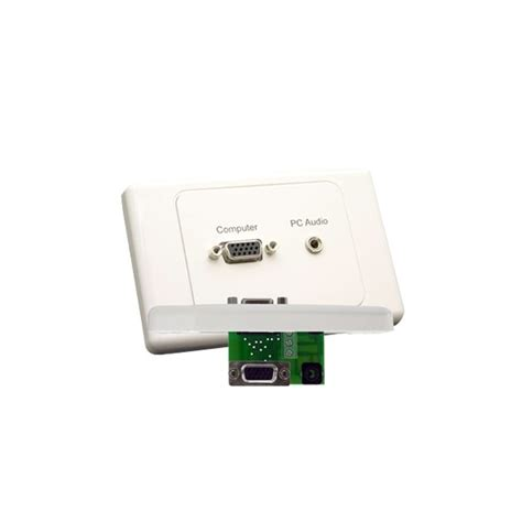 Plate Vga Stereo buy vga wall plate with 3 5mm audio pc wall sockets