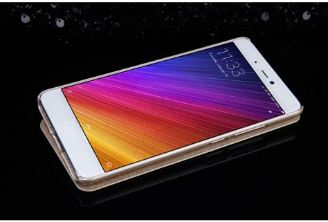 Xiaomi Mi5s Window Leather Flip Cover Sarung Kesing Dompet Casing nillkin sparkle series new leather for xiaomi mi5s mi 5s