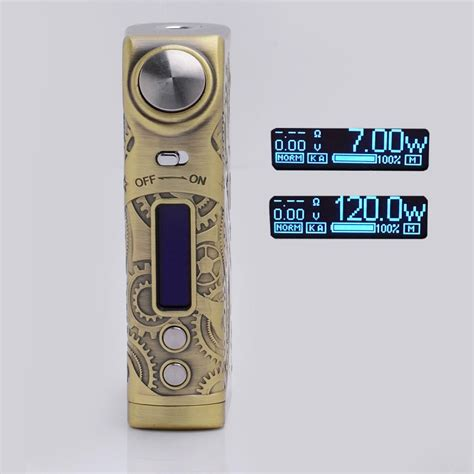 Tesla Steunk Nano Mod 120w Silver Authentic authentic tesla nano 120w tc vw variable wattage brass apv box mod