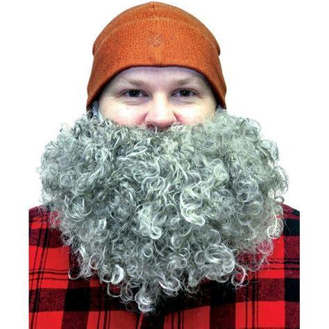 big bushy curls fun world gray big curly bushy mustache and beard facial