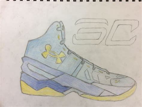 how to draw basketball shoes stephen curry shoe sketchbook drawing stephen curry