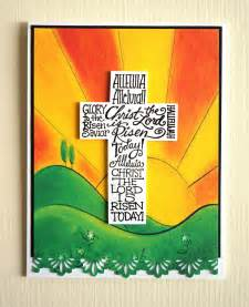 Christian Easter Crafts For Kids - handmade easter card christ is risen religious scr 02