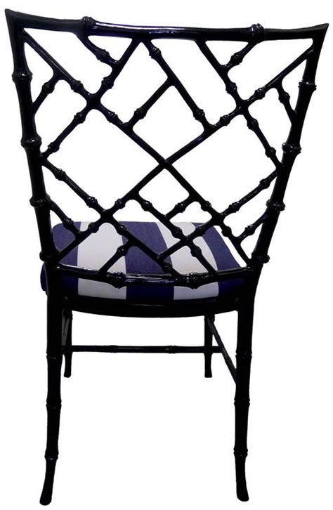 Bamboo Style Dining Chairs Black Bamboo Style Dining Chairs Set Of Six For Sale At 1stdibs