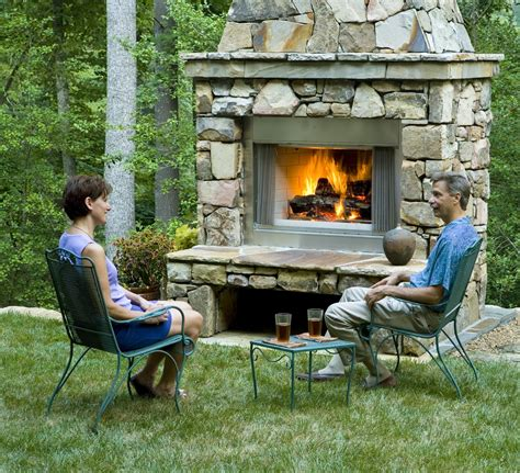 Garden Fireplaces by 30 Outdoor Fireplace Pictures Creativefan