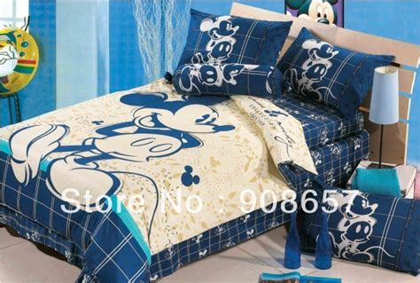 blue beige mickey mouse character bedding twin full queen