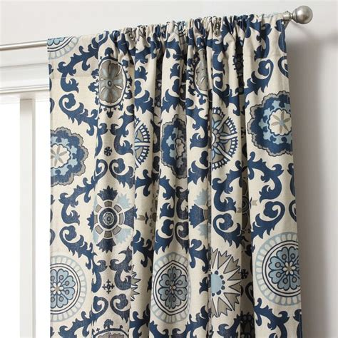 suzani print curtains suzani cotton print rod pocket curtain panel rod pocket