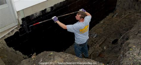 exterior basement waterproofing staydry waterproofing