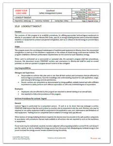 loto program template lockout tagout forms