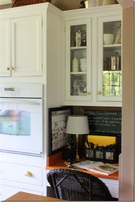 amazing French Country House Interior #2: desk-area-in-kitchen_thumb.jpg