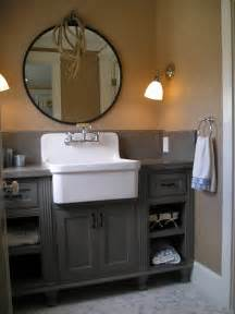 bathroom apron sink farmhouse sinks in the bathroom abode