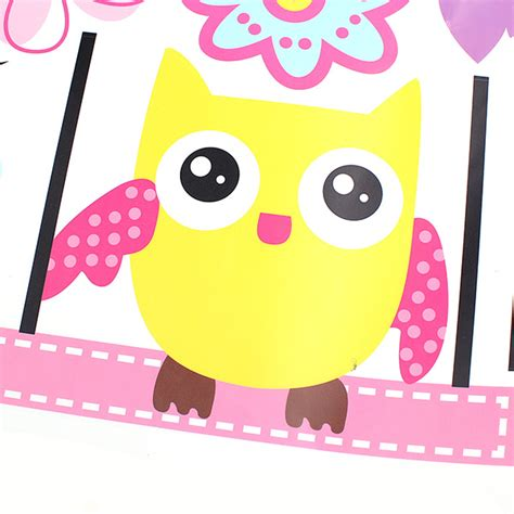imagenes infantiles lechuzas owls on the swing colourful tree pvc removable wallpaper