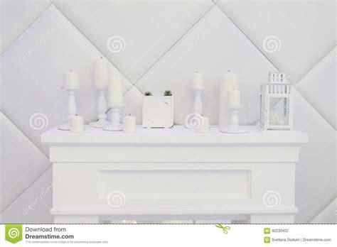 camino decorativo camino decorativo bianco candele orologio fotografia