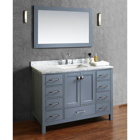 48 In Bathroom Vanity Buy Vincent 48 Inch Solid Wood Single Bathroom Vanity In Charcoal Grey Hm 13001 48 Wmsq Cg