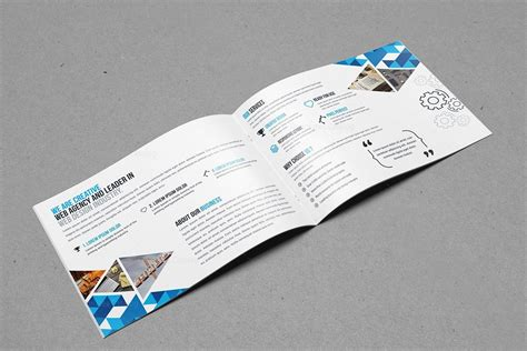 Folding Templates For Brochures by Bi Fold Brochure Template With Style 000399