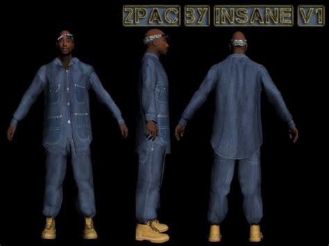 Tshirt Kaos G Eazy gta san andreas tupac skin pack 2pac mod gtainside