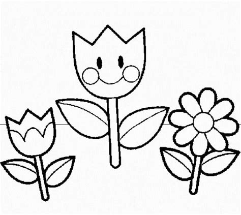 printable preschool flowers flower templates for preschool coloring home