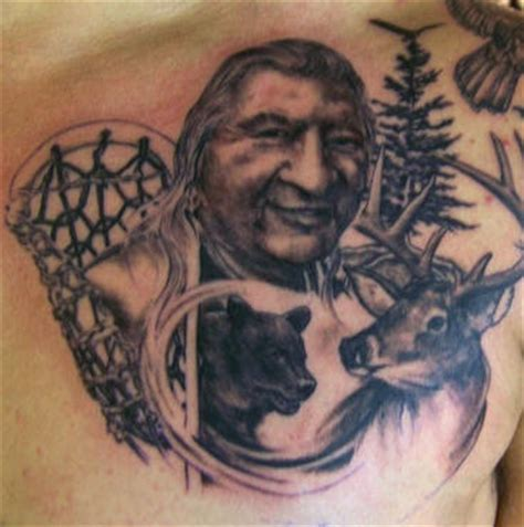 native american bear tattoos american eagle and deer tattooimages biz
