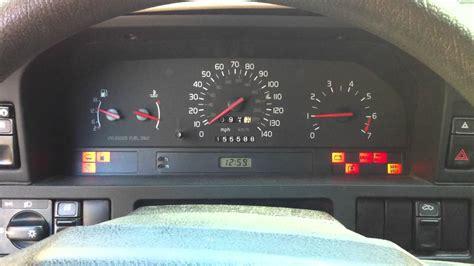 volvo 850 dash lights meanings 1996 volvo 850 glt dash lights youtube
