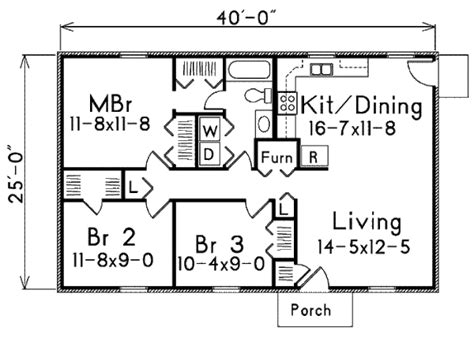 House Plan 3 Beds 1 Baths 1000 Sq Ft Plan 57 221 traditional style house plan 3 beds 1 baths 1000 sq ft