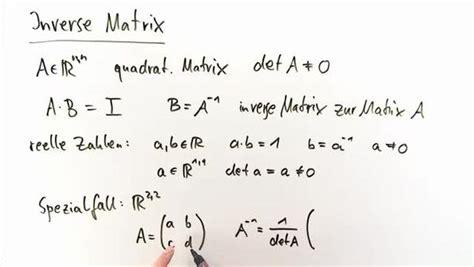 wann ist eine matrix invertierbar inverse matrizen mathematik lernen