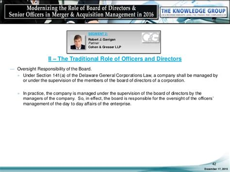 modernizing the of board of directors senior