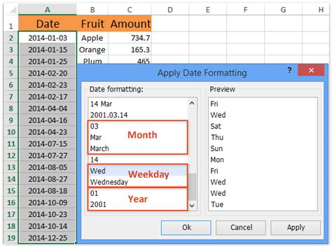 mysql date format only month and year how to sum data by weekday month quarter year in excel