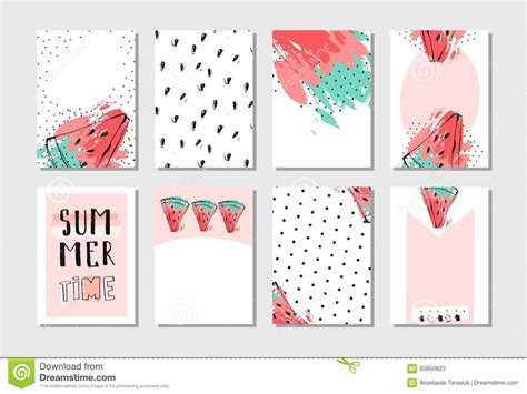 free pastel color card templates vector abstract textured summer time