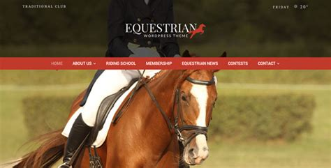 google themes horse equestrian horses and stables wordpress theme by