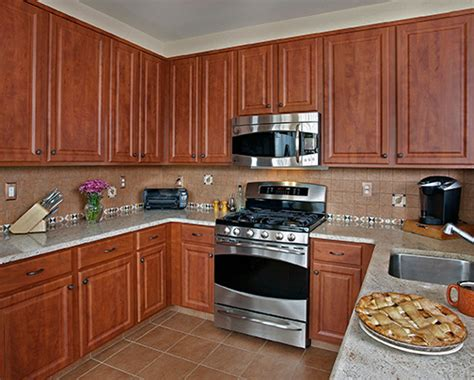 What Color Countertops Go With Cherry Cabinets what countertop color looks best with cherry cabinets