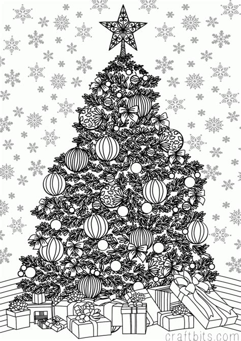 christmas tree coloring page for adults christmas coloring pages for adults to print free